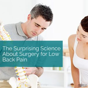 Surgery For Low Back Pain in Kissimmee FL